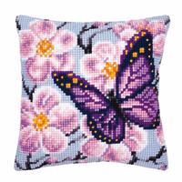 Cross Stitch Kit: Cushion: Butterfly