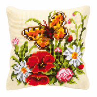 Cross Stitch Kit: Cushion: Butterfly by Vervaco