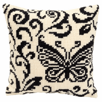 Cross Stitch Kit: Cushion: Blackworks Design by Vervaco