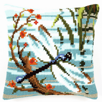 Cross Stitch Kit: Cushion: Dragonfly by Vervaco