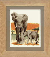 Counted Cross Stitch: Elephants Journey By Vervaco