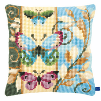 Cross Stitch Kit: Cushion: Deco Butterflies by Vervaco