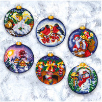 CHRISTMAS BALLS - Cross stitch kit by Andriana