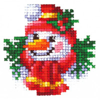 CHRISTMAS TOYS SNOWMAN-Cross stitch kit by Andriana