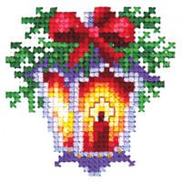 CHRISTMAS TOYS LANTERN-Cross stitch kit by Andriana
