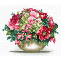 TENDER BOUQUET-Cross stitch kit by Andriana
