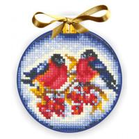 CHRISTMAS BALLS BULLFINCHES- Cross stitch kit by Andriana