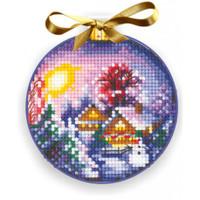 CHRISTMAS BALLS WINTER LANDSCAPE-Cross stitch kit by Andriana