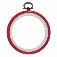 Hoop: Flexi: Round: 7.6cm/3in: Red