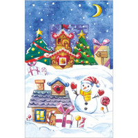 CARDS GINGERBREAD HOUSE-CROSS STITCH KIT BY ANDRIANA
