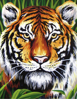 Printed Tapestry Canvas: Tiger by Collection d art