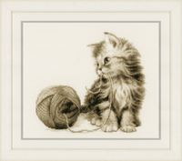 Counted Cross Stitch Kit: Kitten By Vervaco