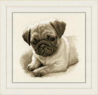 Counted Cross Stitch Kit: Pug Dog By Vervaco
