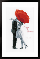 Counted Cross Stitch Kit: Under My Red Umbrella By Vervaco