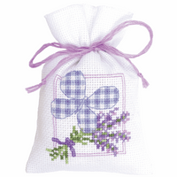 Counted Cross Stitch Kit: Pot-Pourri Bag: Lavender Butterfly By Vervaco