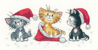 Christmas Kittens Cross Stitch Kit by Heritage Crafts