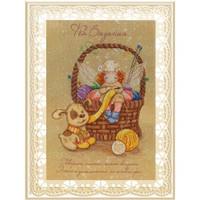 Knitting Fairy Printed Cross Stitch Kit by Mp Studia