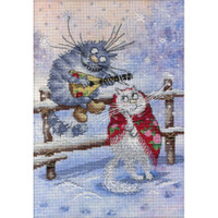 On the Snow Printed Cross Stitch Kit by MP Studia