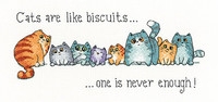 Cats and Biscuit  Cross Stitch Kit by Heritage