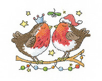 Christmas Kiss Cross Stitch Kit by Heritage