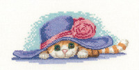 Cat in a hat Cross Stitch Kit by Heritage