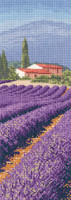 Lavender Fields Cross Stitch Kit by Heritage