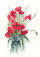 Jug of Poppies Cross Stitch Kit by Heritage