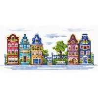PEACEFUL STREET-cross stitch kit by Andriana