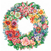 TRIUMPH OF THE FLOWERS-cross stitch kit by Andriana