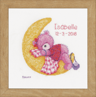 Counted Cross Stitch Kit: Brie Bear on the Moon By Vervaco