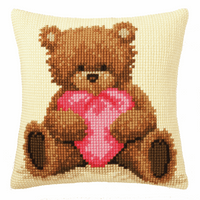 Cross Stitch Kit: Cushion: Popcorn with Heart By Vervaco