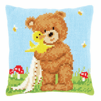 Cross Stitch Cushion Kit: Popcorn & Soufflé the Duck By Vervaco