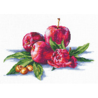 APPLES AND HAZELNUT-cross stitch kit by Andriana