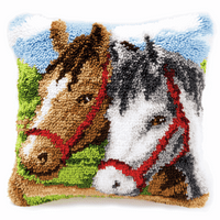 Latch Hook Kit: Cushion: Ponies