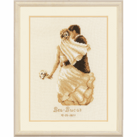 Counted Cross Stitch Kit: Wedding Record: Private Moment By Vervaco