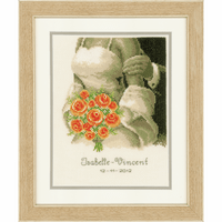Counted Cross Stitch Kit: Wedding Record: The Bouquet By Vervaco