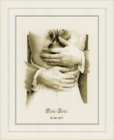 Counted Cross Stitch Kit: Wedding Record: Newlyweds By Vervaco