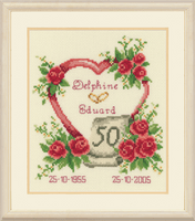 Counted Cross Stitch Kit: Anniversary By Vervaco