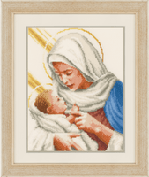 Counted Cross Stitch: Maria and Jesus By Vervcao