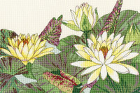 Water Lily Blooms Cross Stitch Kit by Bothy Threads