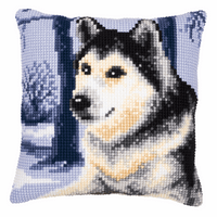 Cross Stitch Kit: Cushion: Husky By Vervaco