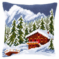 Cross Stitch Kit: Cushion: Snow Landscape By Vervaco