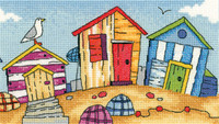 Beach  Huts Cross Stitch By Heritage