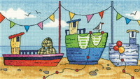 Boats Cross Stitch By Heritage