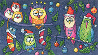 Christmas Owls Cross Stitch By Heritage