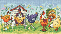 Happy Hens Cross Stitch BY Heritage