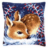Cross Stitch Kit: Cushion: Little Deer By Vervaco