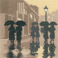 Brollies Cross Stitch Kit by Heritage