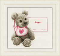 Counted Cross Stitch Kit: Bear with Bib By Vervaco