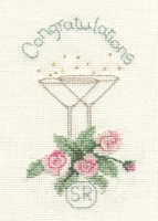 Rose And Champagne card kit by Derwentwater